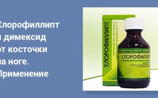 Хлорофиллипт и Димексид — можно ли принимать одновременно