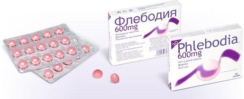 Флебодия 600 (таблетки) при варикозе - инструкция по применению, отзывы, аналоги, форма выпуска, побочные действия, противопоказания, цена
