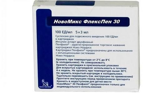Новомикс Флекпспен (инсулин): цена, инструкция по применению, отзывы, аналоги